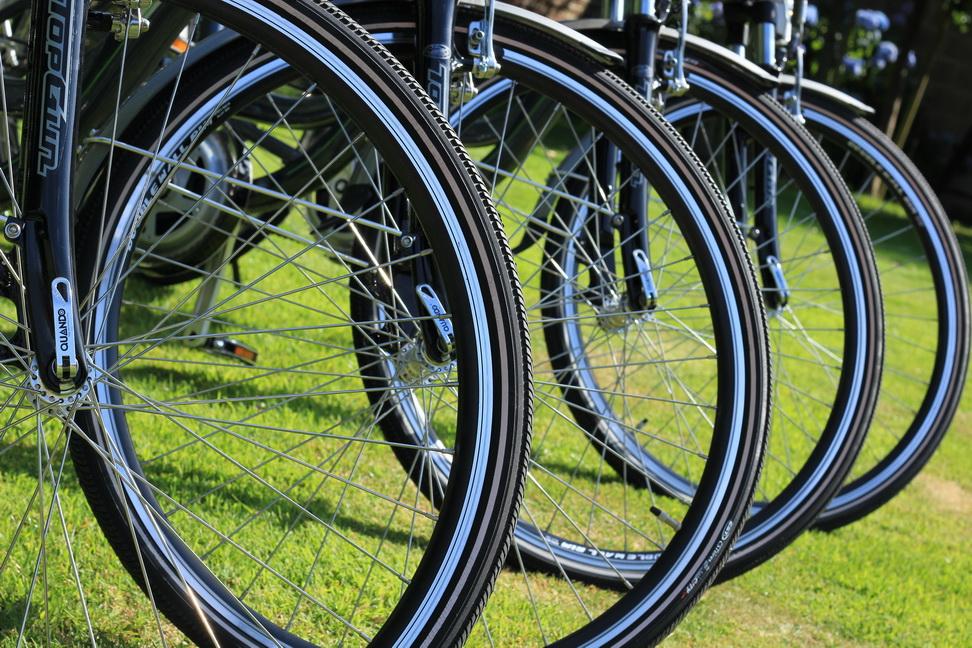 détail roue vélo